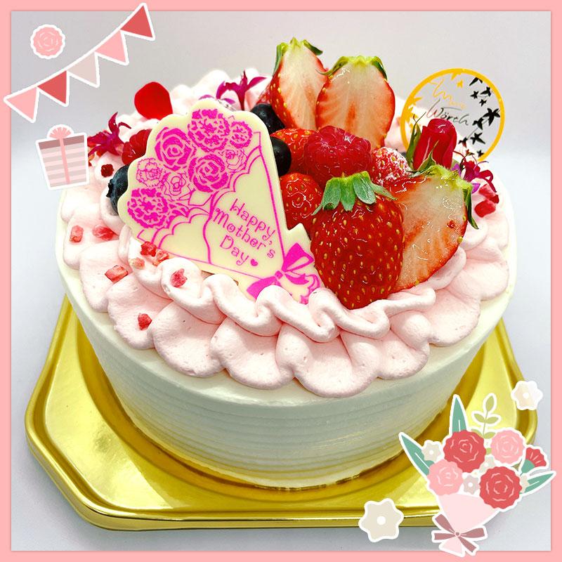 母の日生デコレーションケーキ